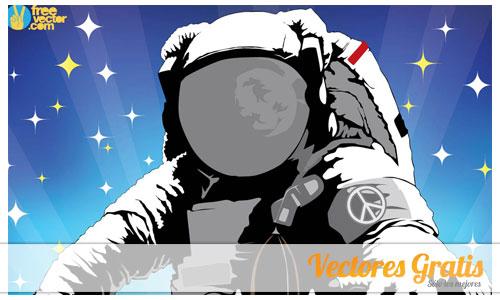 astronauta en vector gratis