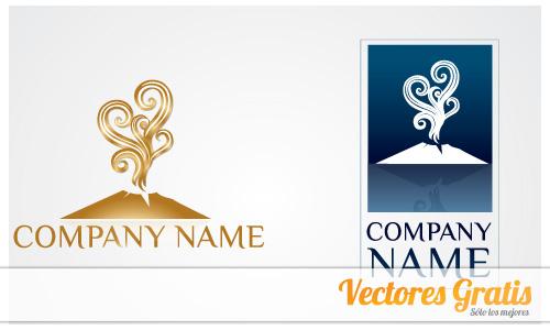 logos con volcanes en vector gratis