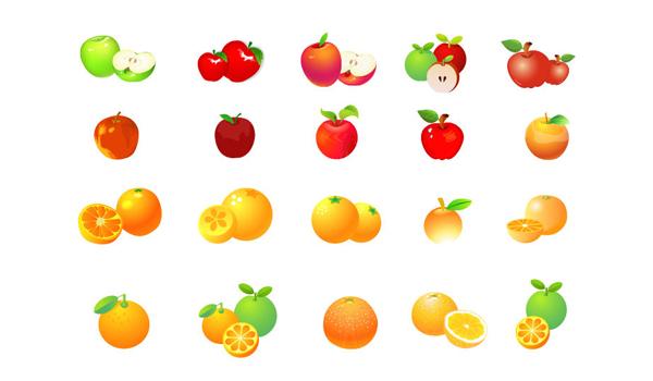 iconos de frutas en vector