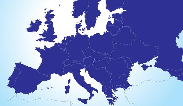 mapa de europa en vector gratis