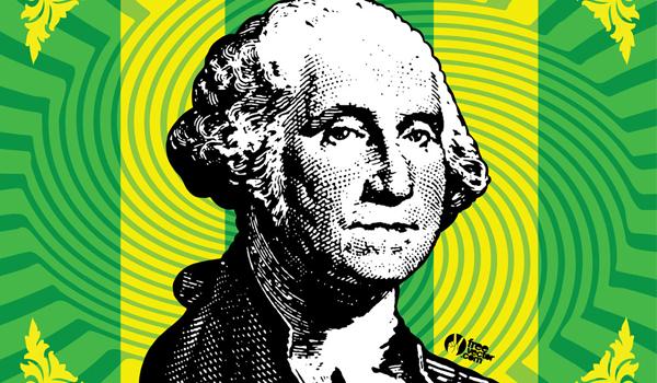 george Washington en vector gratis