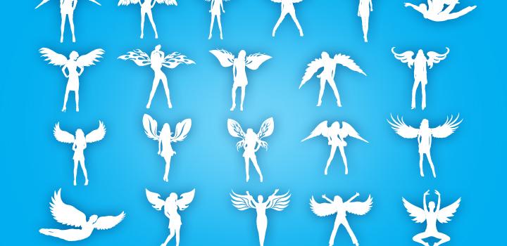 Siluetas angelitos - Imagui