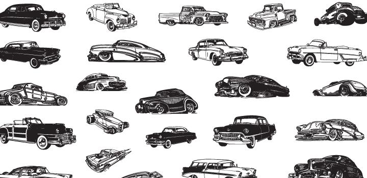 carros antiguos en vector gratis