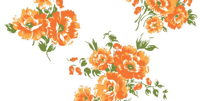 Flores Naranjas En Vectores Gratis Vectores Gratis