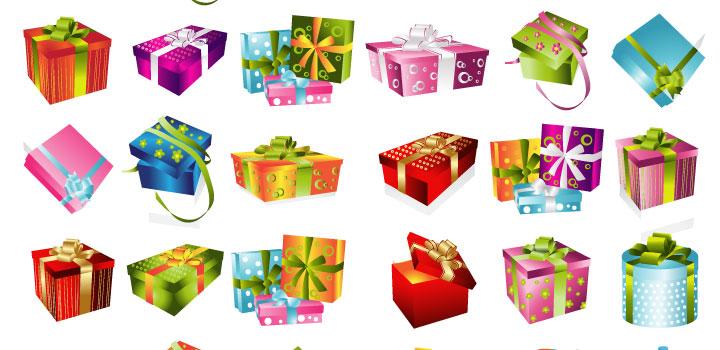 Set de Cajas de Regalos Navideños | Vectores Gratis