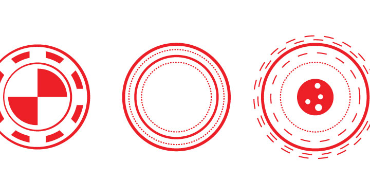 Circulos futuristas vectores gratis
