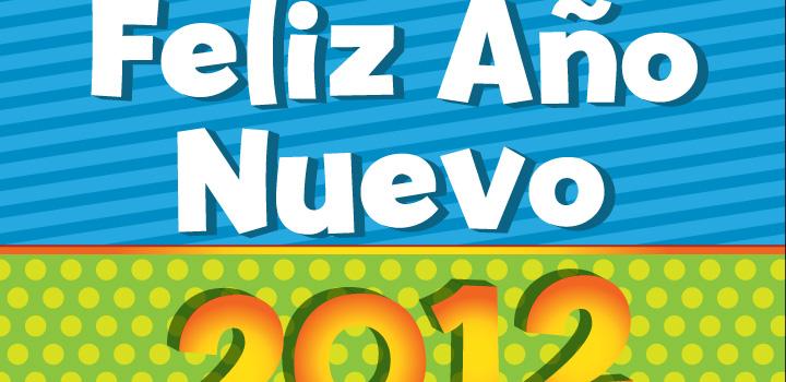 Feliz 2012 vectores gratis