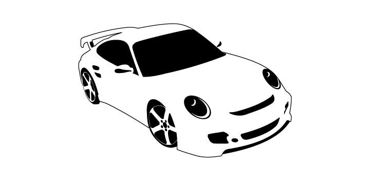 Porsche vectores gratis
