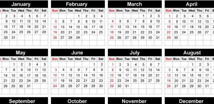 Calendario 2012 vectores gratis