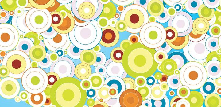 Circulos abstractos vectores gratis