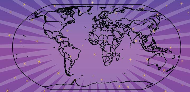 Mapa mundo vectores gratis