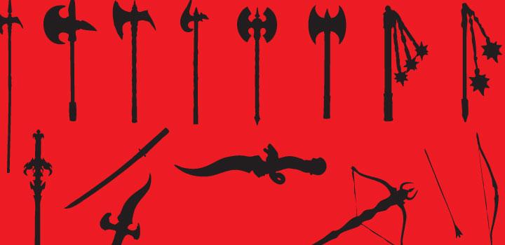 Armas medievales vectores gratis