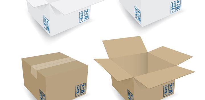 Cajas carton vectores gratis