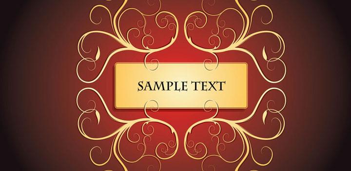 Marco texto vectores gratis