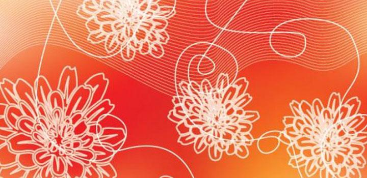 Abstracto flores vectores gratis