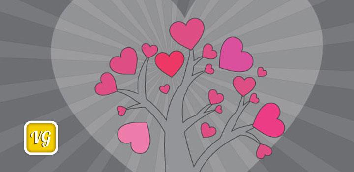 Arbol corazones vectores gratis