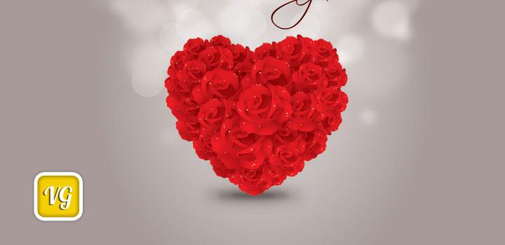 Corazon rosas vectores gratis