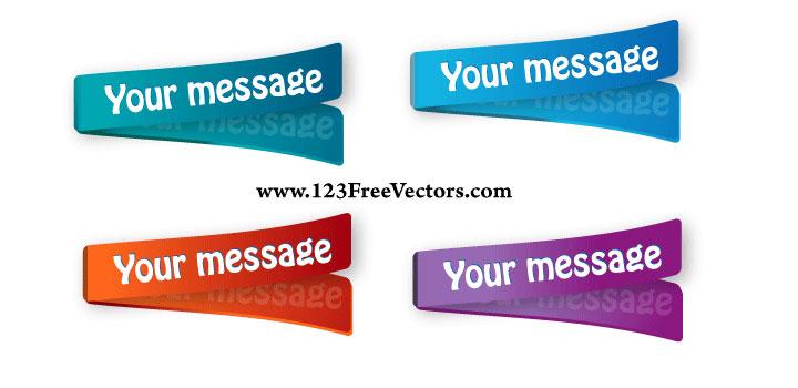 Etiquetas colores vectores gratis