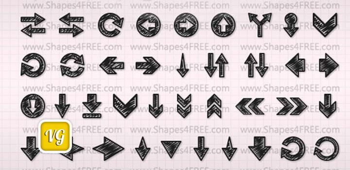 Flechas vectores gratis