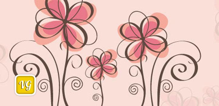 Flores rosadas vectores gratis