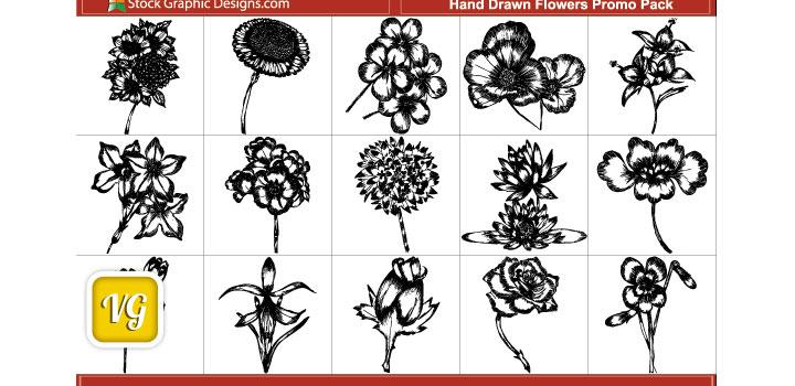 Flores vectores gratis
