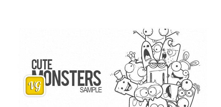 Monstruos tiernos vectores gratis