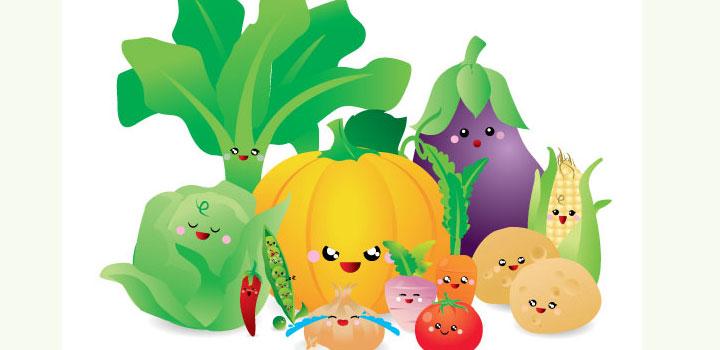 Vegetales vectores gratis