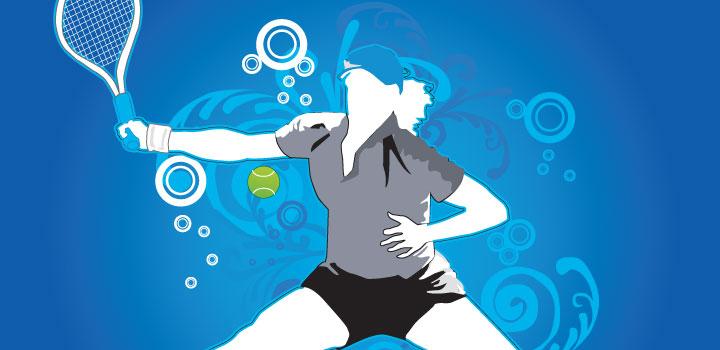Jugadora tennis vectores gratis