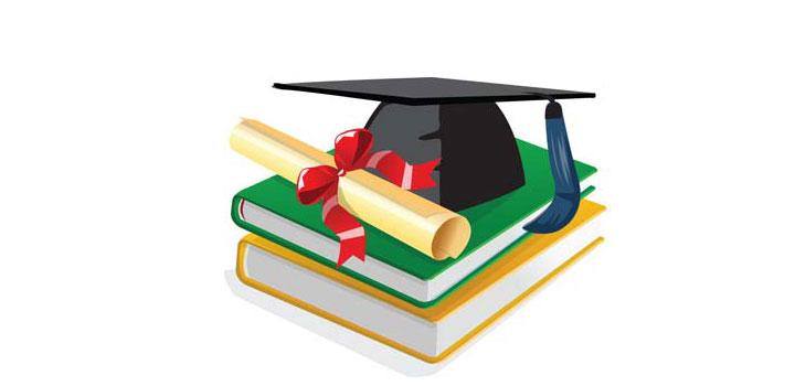 Libros diploma vectores gratis