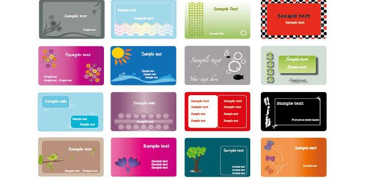 Tarjetas presentacion vectores gratis