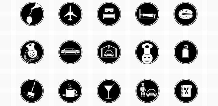 Iconos hotel vectores gratis