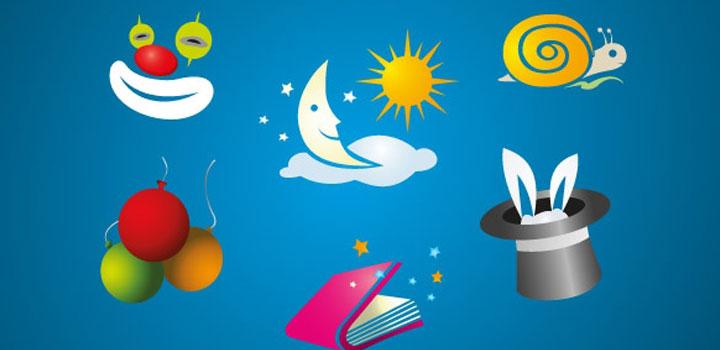 Iconos infantiles vectores gratis