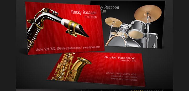 Tarjetas musicos vectores gratis