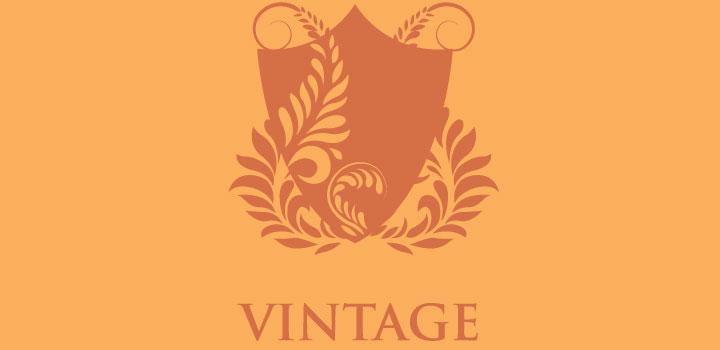 Emblema vintage vectores gratis