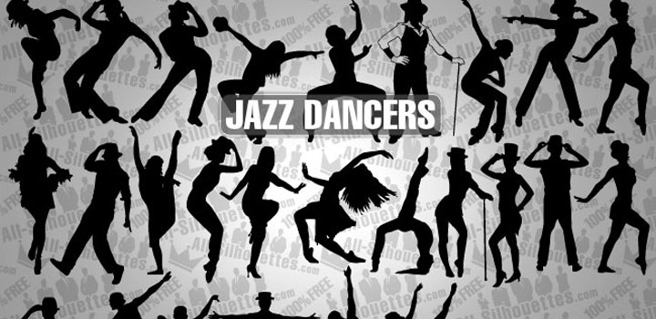 Bailarines jazz vectores gratis