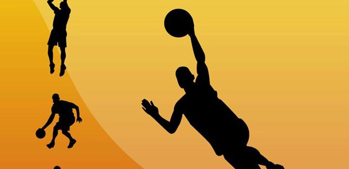 Jugadores basketbol vectores gratis