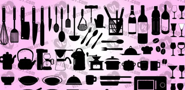 Utensilios cocina vectores gratis