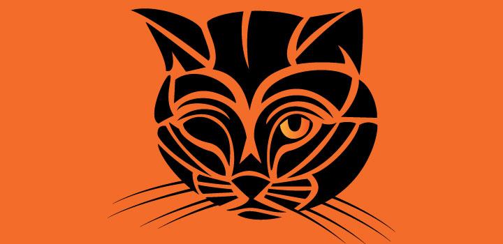 Gato tribal vectores gratis