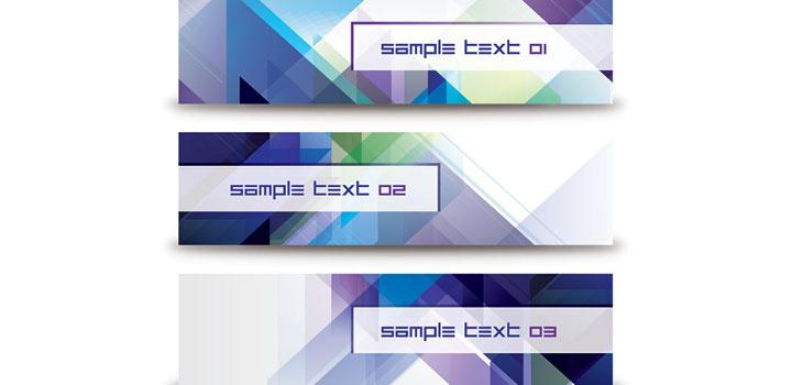 Banners abstractos vectores gratis