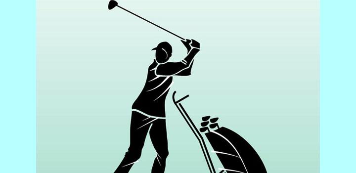 Golfista vectores gratis