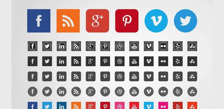 Iconos sociales vectores gratis