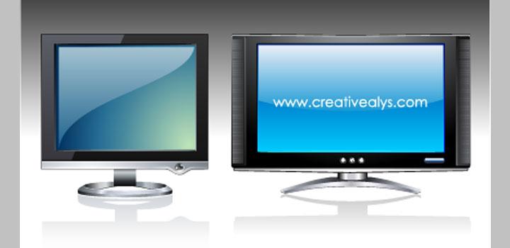 Monitores lcd vectores gratis