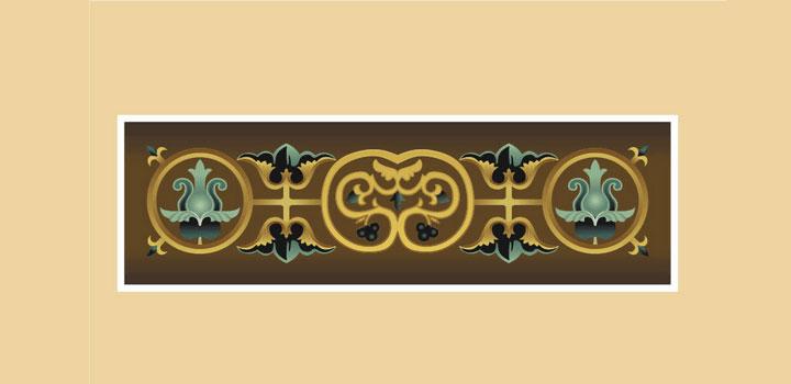 Ornamentos bizantinos vectores gratis