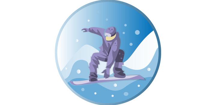 Snowboard vectores gratis