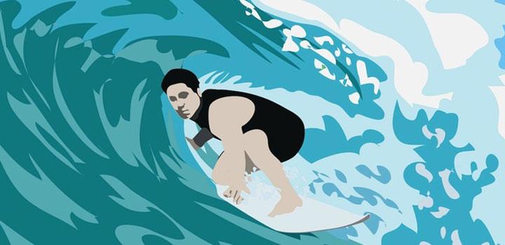 Surfista vectores gratis