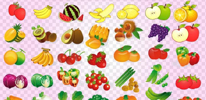 Iconos comida vectores gratis