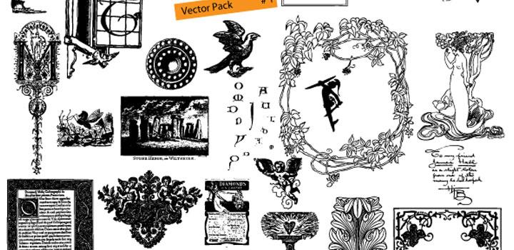 Ornamentos vectores gratis