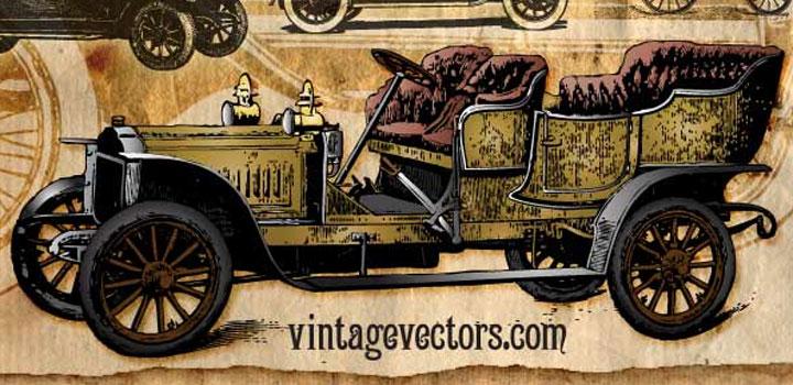 Autos vintage vectores gratis