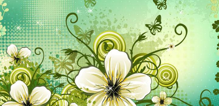 Fondo flores vectores gratis
