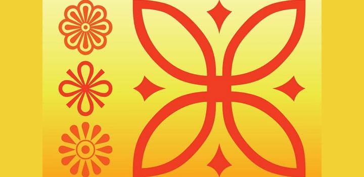 Iconos florales vectores gratis